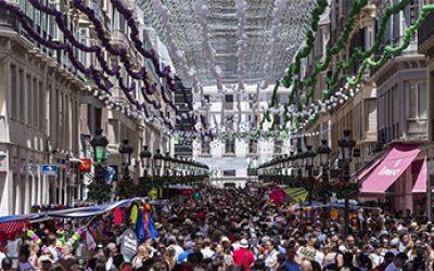 Calle Larios durante la Feria de Málaga