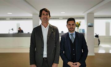 Pablo Luque y Alvaro Reyes en el Hotel Alay Benalmadena
